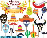 Mexico Props Fiesta Clipart Mexican birthday cinco de mayo SVG fiesta hats -175s