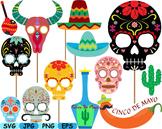 Mexico Props Fiesta Clipart Mexican birthday cinco de mayo SVG fiesta hats -176s