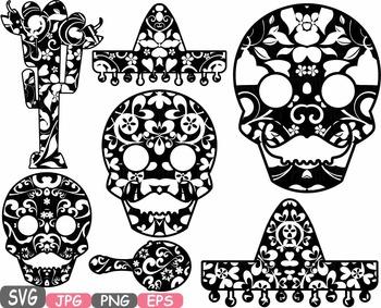 Mexico Props Fiesta Clipart Mexican birthday cinco de mayo SVG fiesta hats -471s
