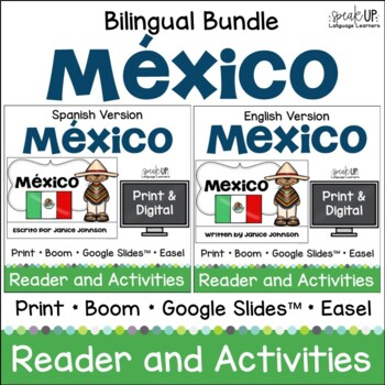 Mexico Reader & vocab pages in English & Spanish {Bilingual version}