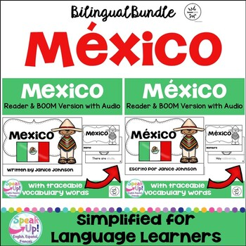 Mexico Reader & vocab pages in English & Spanish {Bilingual Bundle}