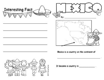 Mexico Research for K-2 Students * Print and Go *