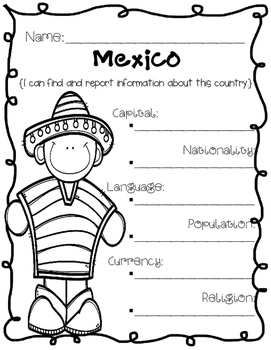 Mexico {Research / Creative Writing / Word Work}