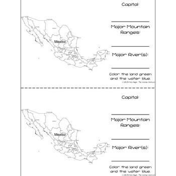 Mexico - Research Mini Book