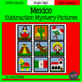 Mexico Subtraction Mystery Pictures (Cinco de Mayo)