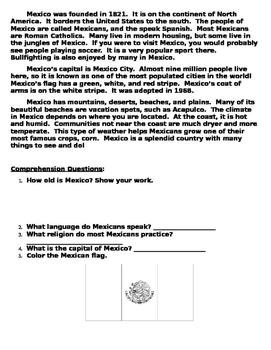 Mexico Thematic Unit