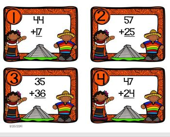 Mexico Themed Math Addition Station