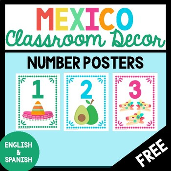 FREE Mexico-Themed Number Posters