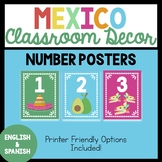 Mexico-Themed Number Posters
