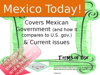 Mexico Today - Government and Current Issues