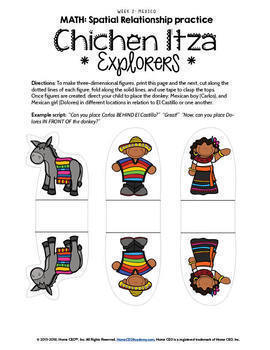 Mexico Preschool Homeschool - Week 2 Age 3-4 Complete Year Preschool Curriculum