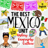 Mexico Unit! Growing Bundle: Geography, History, Hispanic Culture, Literacy ~Eng