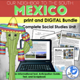 Mexico Unit with Informational Text, Print & Digital Distance Learning Bundle
