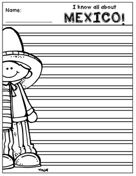 Mexico Writing Pages (A Country Study!)