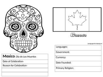 Mexico and Canada Fun Activities