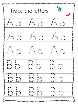 mexico themed a z tracing preschool educational worksheets daycare alphabet. Black Bedroom Furniture Sets. Home Design Ideas