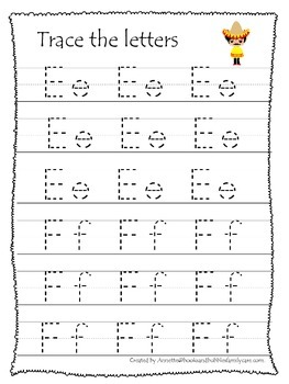 Mexico themed A-Z tracing preschool educational worksheets. Daycare alphabet.