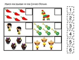 Mexico themed Match the Number preschool printable.  Homes