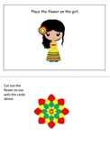 Mexico themed Postional Cards preschool learning game.  Daycare learning.