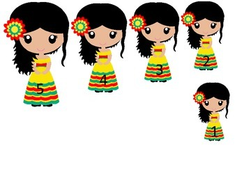 Mexico themed Size Sequence preschool learning games. Daycare start up supplies.