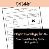 Meyers' Psychology for AP© - Biology Unit (Chapter 2) Read