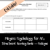 Meyers' Psychology for AP© - Prologue Unit Reading Questions