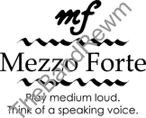 Mezzo-Forte Music Poster - Music Room Posters - Dynamics