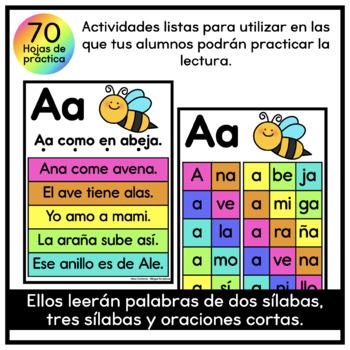 Mi Alfa-Libro a Color * Fluidez * (Fluency Reader in Spanish)