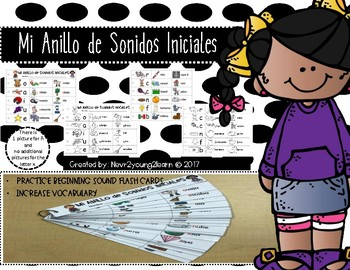 Spanish Alphabet: Mi Anillo de Sonidos Iniciales/My Beginning Sounds Binder Ring