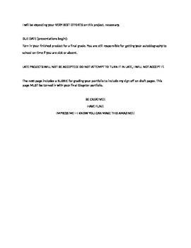 Mi Autobiografia-Upper level Spanish Project