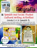 Mi Biografia- A Spanish & Social Studies Writing Activity -Editable Powerpoint