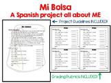 Mi Bolsa (My Bag) A Spanish All About Me Project for la Clase de Español