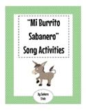 Mi Burrito Sabanero Song Activities