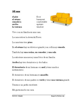 Mi Casa Lectura Fácil: Rooms in my House Spanish Reading