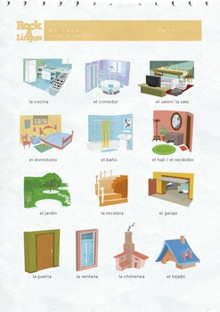 Mi Casa, Rooms of the house in Spanish (songs + worksheet + picture  dictionary)