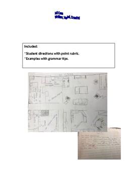 Mi Casa Spanish I drawing with labels, sentences, speech