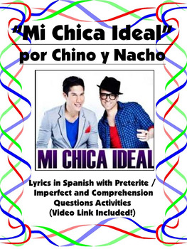 Mi Chica Ideal Spanish Song Activity