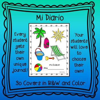 Mi Diario - Spanish Writing Journal Perfect for Dual Language