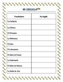 Parts of the School - Lugares de la Escuela-vocabulary and interactive package