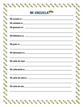 Parts of the School - Lugares de la Escuela-vocabulary and interactive package