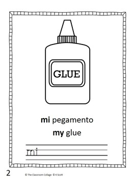 Mi Escuela Spanish Sight Word Early Reader Book  mi, mis (my) Bilingual