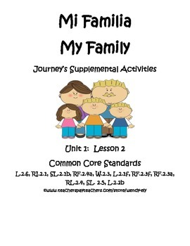 Mi Familia--Journey's Supplement second grade