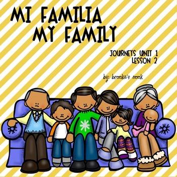 Mi Familia- My Family: Journeys 2nd Grade – Unit 1: Lesson 2