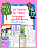 Mi Familia, My Family (Journeys Second Grade Unit 1 Lesson 2)
