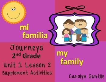 Mi Familia My Family Journeys Unit 1 Lesson 2 Second Grade
