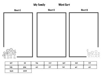 Mi Familia My Family Word Sort Journey's Unit 1 Lesson 2