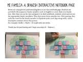 Mi Familia: Spanish Family Tree Interactive Notebook Page