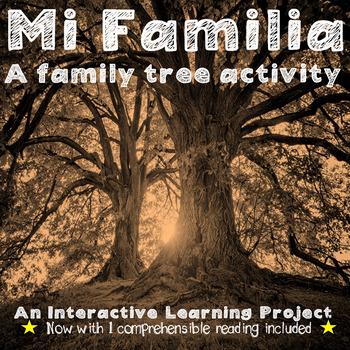 Mi Familia - Spanish Likes, Dislikes, and Family Tree