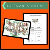 La Familia Vocab Handout & Worksheet 4A