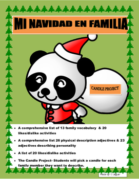 Mi Familia en Navidad- Family Christmas Project in Spanish